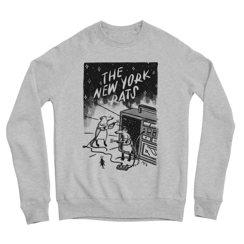 THE NEW YORK RATS Men's Sponge Fleece Sweatshirt by BB TAMAGOTCHI