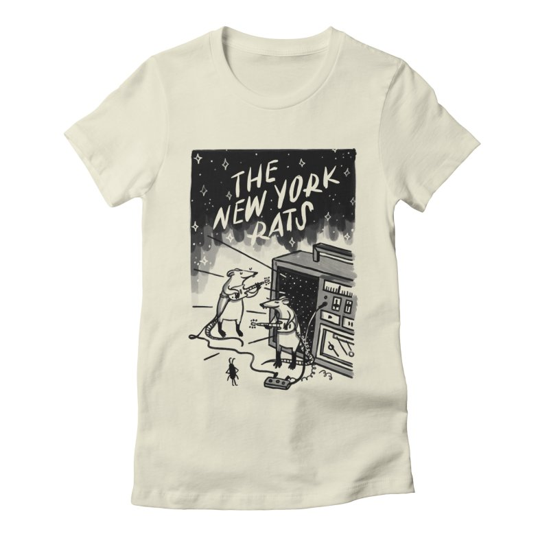 THE NEW YORK RATS Women's Fitted T-Shirt by BB TAMAGOTCHI