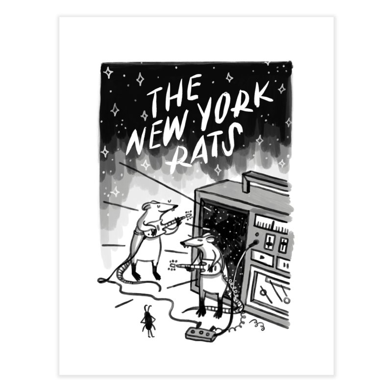 THE NEW YORK RATS Home Fine Art Print by BB TAMAGOTCHI
