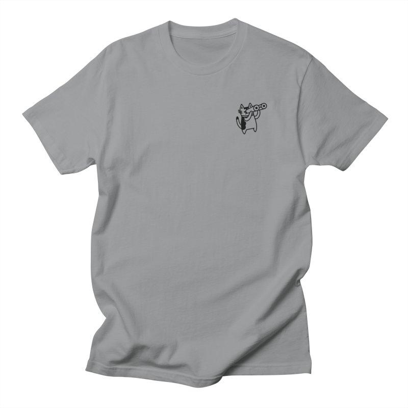 BINOCULAR CAT Women's Regular Unisex T-Shirt by RACHEL AURIEMMA