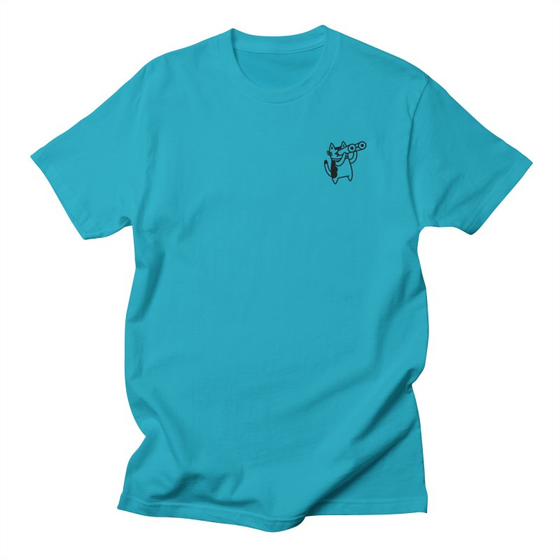 BINOCULAR CAT Men's Regular T-Shirt by BB TAMAGOTCHI