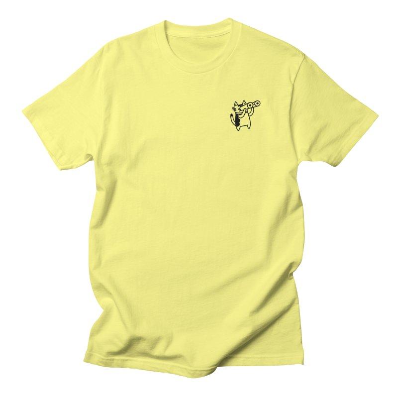 BINOCULAR CAT Men's T-Shirt by RACHEL AURIEMMA