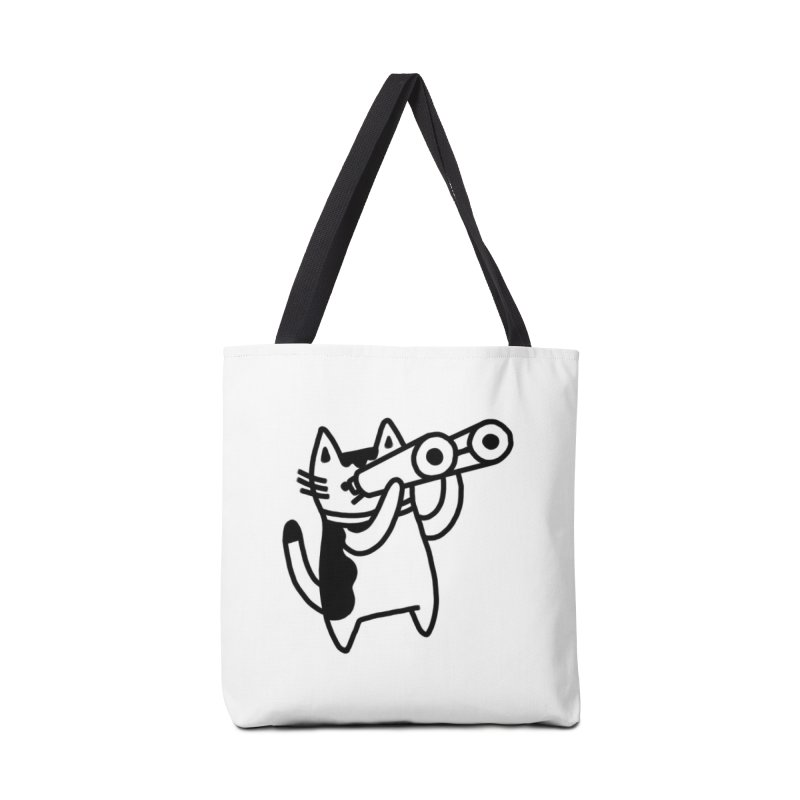 BINOCULAR CAT Accessories Tote Bag Bag by RACHEL AURIEMMA