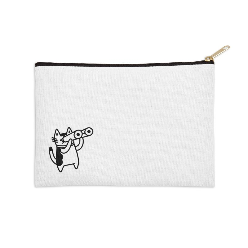 BINOCULAR CAT Accessories Zip Pouch by RACHEL AURIEMMA