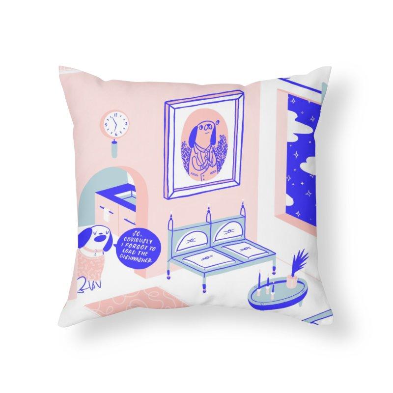 DESIGNER DOG Home Throw Pillow by BB TAMAGOTCHI