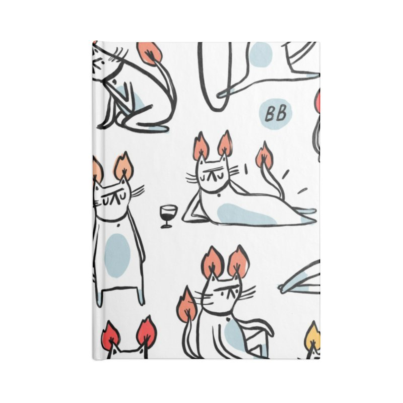 FIRECAT (WHITE VERSION) Accessories Lined Journal Notebook by BB TAMAGOTCHI