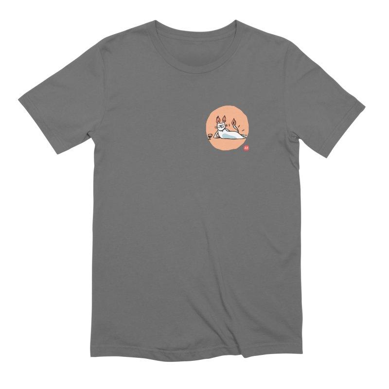 FIRECAT (WHITE VERSION) Men's T-Shirt by RACHEL AURIEMMA