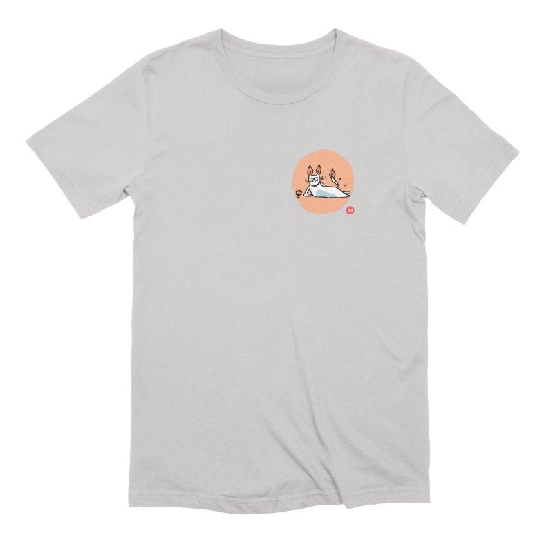 FIRECAT (WHITE VERSION) Men's Extra Soft T-Shirt by RACHEL AURIEMMA