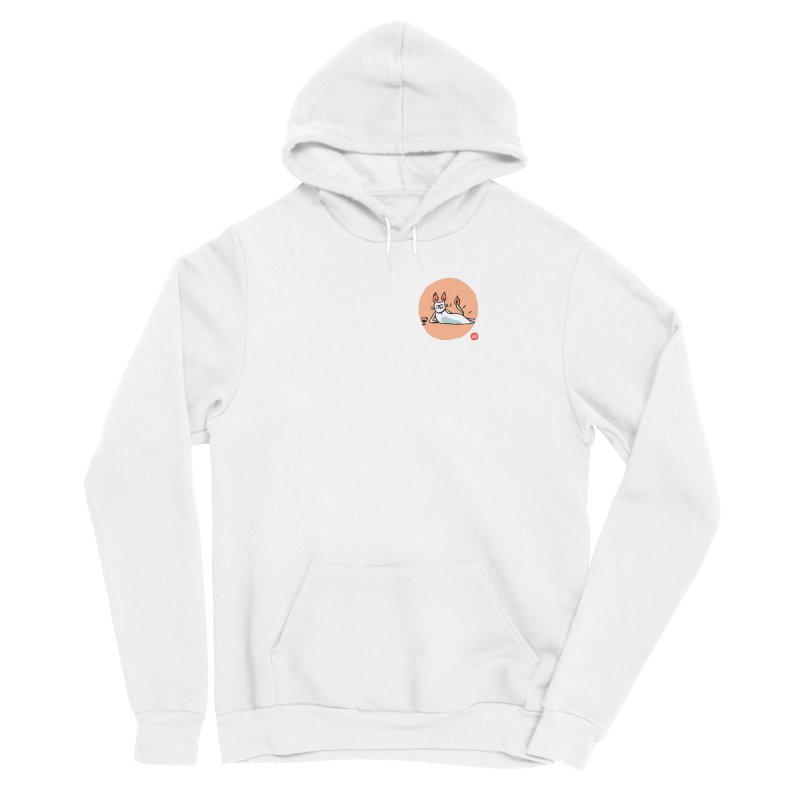 FIRECAT (WHITE VERSION) Men's Sponge Fleece Pullover Hoody by RACHEL AURIEMMA