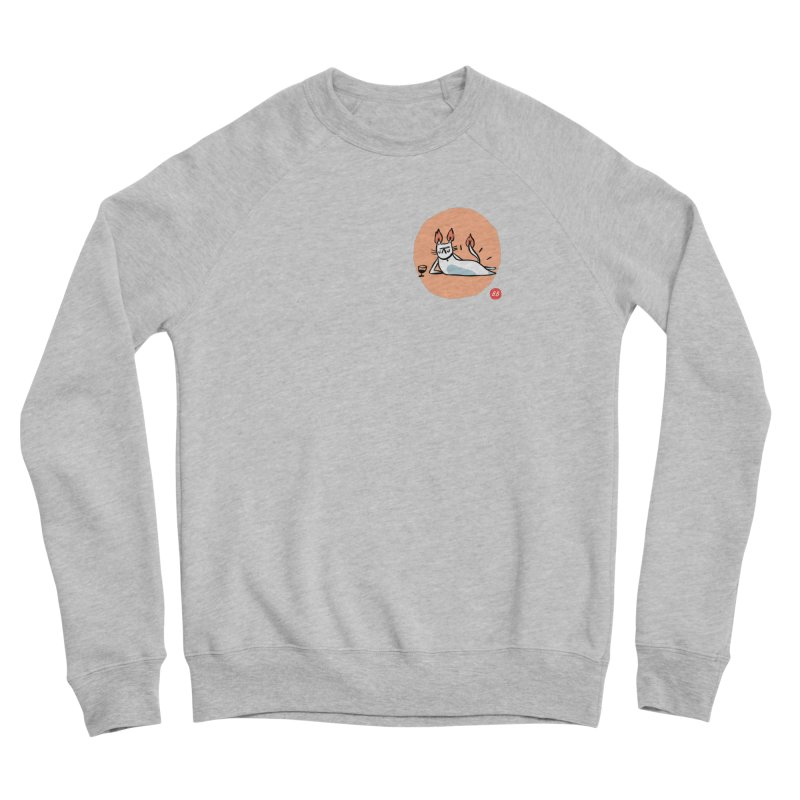FIRECAT (WHITE VERSION) Men's Sponge Fleece Sweatshirt by BB TAMAGOTCHI
