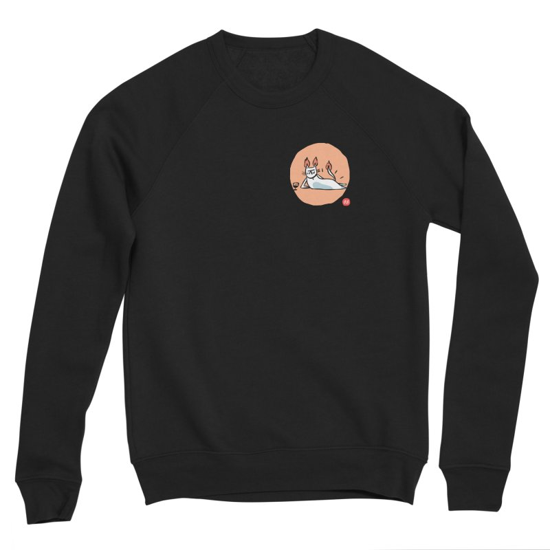 FIRECAT (WHITE VERSION) Women's Sponge Fleece Sweatshirt by RACHEL AURIEMMA