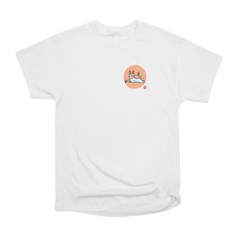 FIRECAT (WHITE VERSION) Men's Heavyweight T-Shirt by RACHEL AURIEMMA