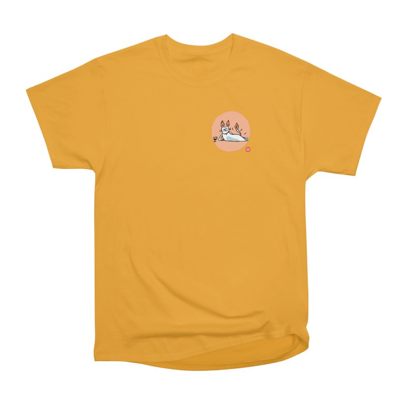 FIRECAT (WHITE VERSION) Men's Heavyweight T-Shirt by RACHEL AURIEMMA