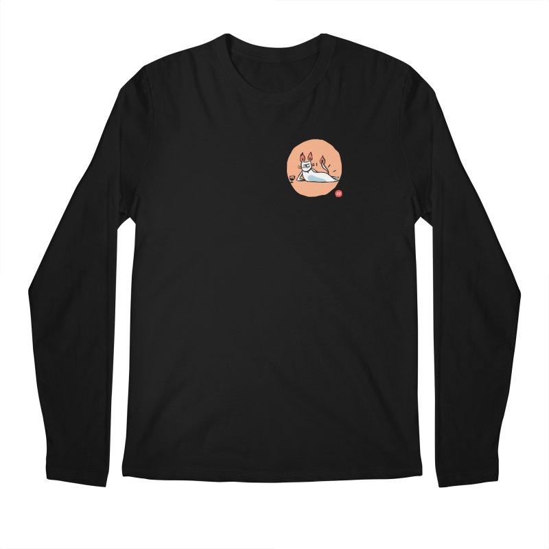FIRECAT (WHITE VERSION) Men's Longsleeve T-Shirt by RACHEL AURIEMMA