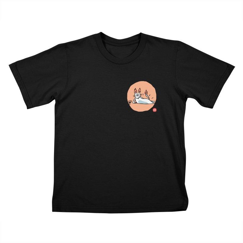 FIRECAT (WHITE VERSION) Kids T-Shirt by RACHEL AURIEMMA