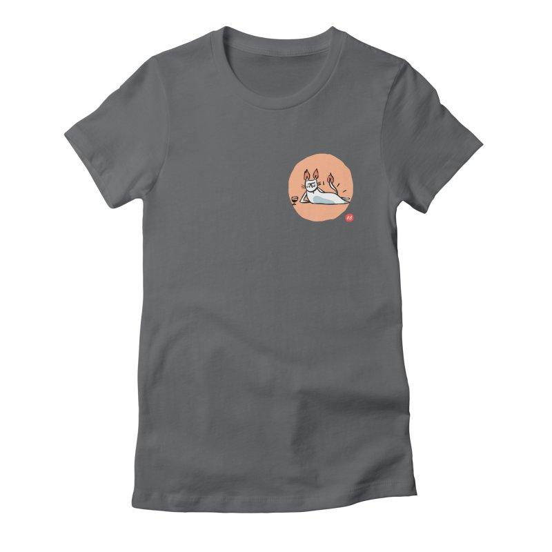 FIRECAT (WHITE VERSION) Women's Fitted T-Shirt by RACHEL AURIEMMA