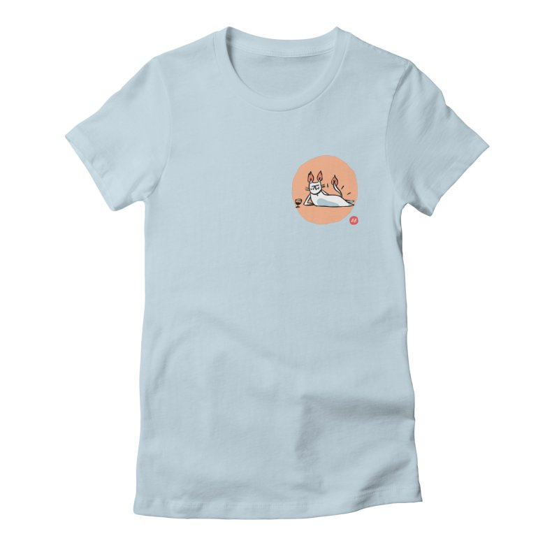 FIRECAT (WHITE VERSION) Women's Fitted T-Shirt by BB TAMAGOTCHI