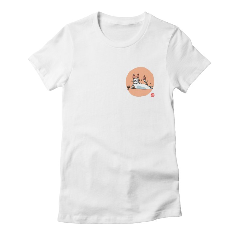 FIRECAT (WHITE VERSION) Women's Fitted T-Shirt by RACHEL AURIEMMA