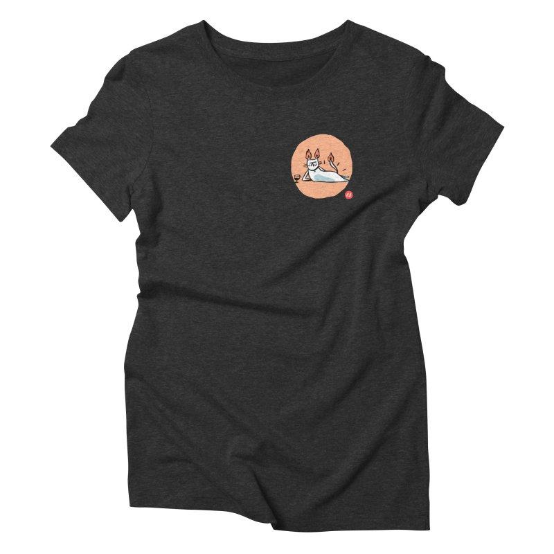 FIRECAT (WHITE VERSION) Women's Triblend T-Shirt by RACHEL AURIEMMA