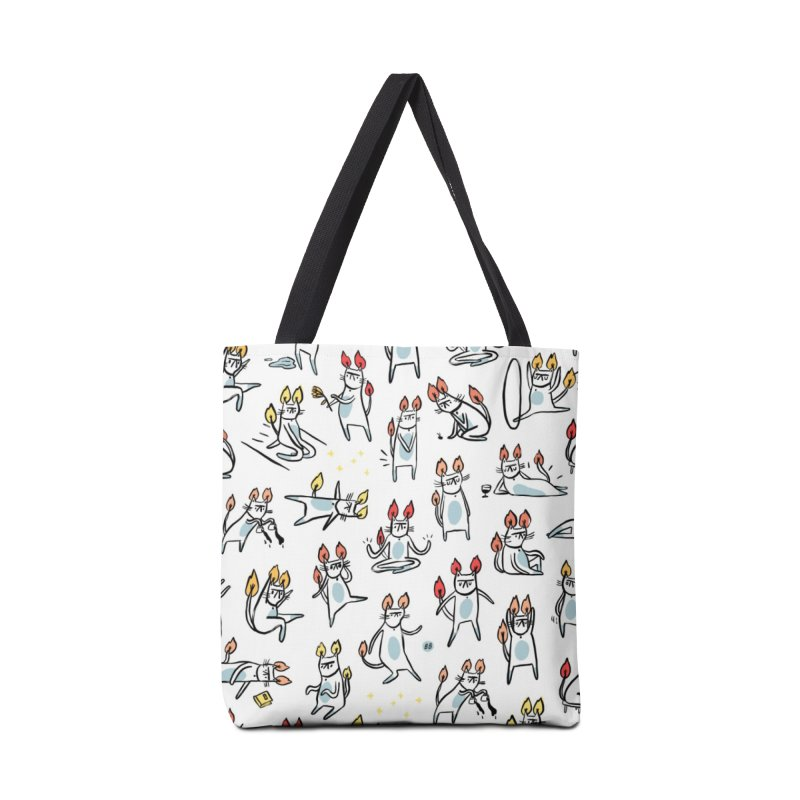 FIRECAT (WHITE VERSION) Accessories Tote Bag Bag by RACHEL AURIEMMA