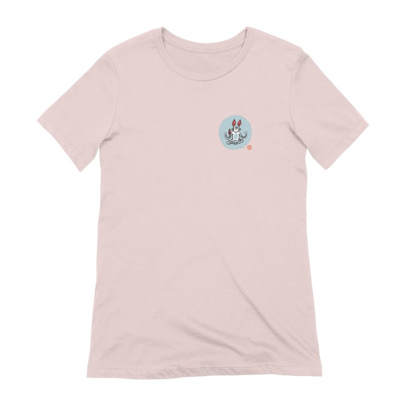 FIRECAT (BLUE VERSION) Women's Extra Soft T-Shirt by RACHEL AURIEMMA