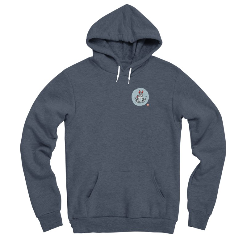 FIRECAT (BLUE VERSION) Men's Sponge Fleece Pullover Hoody by RACHEL AURIEMMA