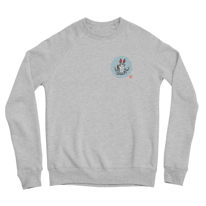 FIRECAT (BLUE VERSION) Women's Sponge Fleece Sweatshirt by RACHEL AURIEMMA
