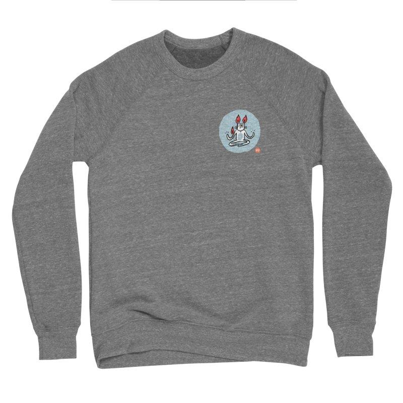 FIRECAT (BLUE VERSION) Men's Sponge Fleece Sweatshirt by RACHEL AURIEMMA