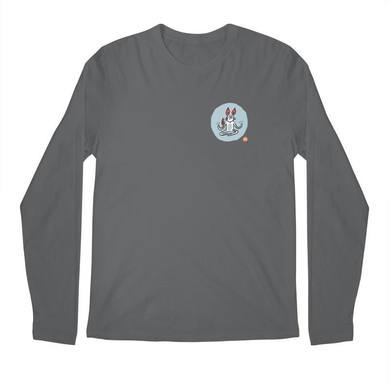 FIRECAT (BLUE VERSION) Men's Regular Longsleeve T-Shirt by RACHEL AURIEMMA