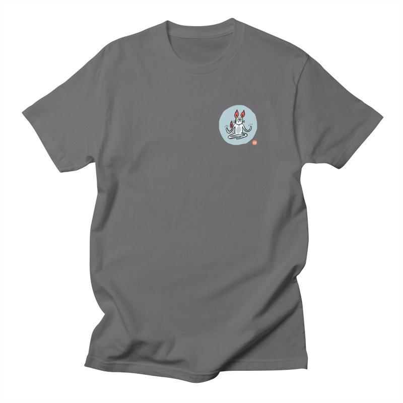FIRECAT (BLUE VERSION) Men's T-Shirt by RACHEL AURIEMMA