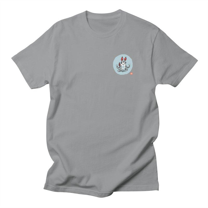 FIRECAT (BLUE VERSION) Men's Regular T-Shirt by RACHEL AURIEMMA