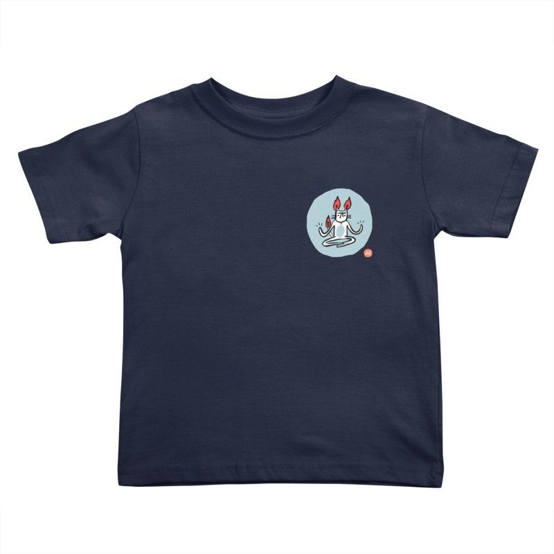 FIRECAT (BLUE VERSION) Kids Toddler T-Shirt by BB TAMAGOTCHI