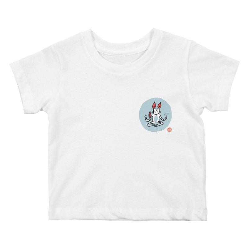 FIRECAT (BLUE VERSION) Kids Baby T-Shirt by BB TAMAGOTCHI