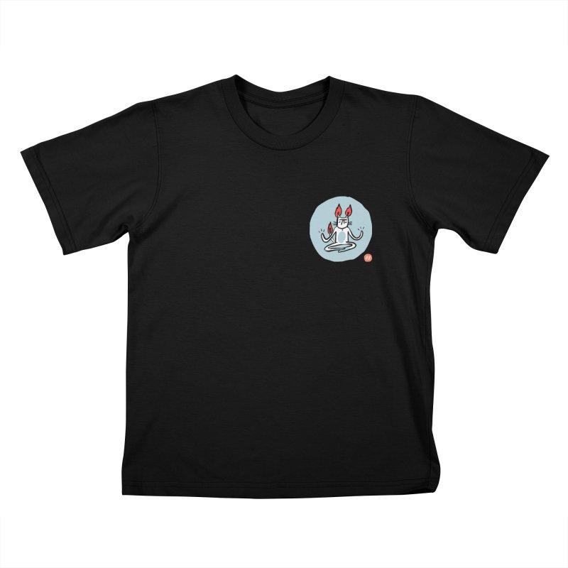 FIRECAT (BLUE VERSION) Kids T-Shirt by RACHEL AURIEMMA