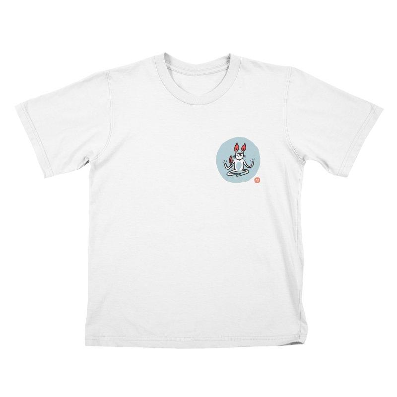FIRECAT (BLUE VERSION) Kids T-Shirt by BB TAMAGOTCHI