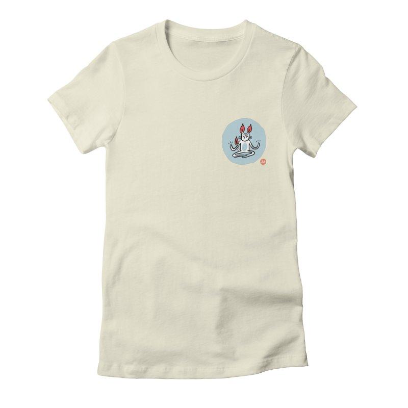 FIRECAT (BLUE VERSION) Women's T-Shirt by RACHEL AURIEMMA