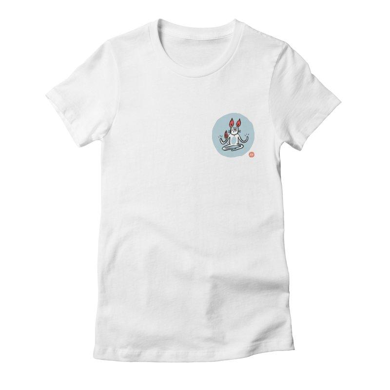FIRECAT (BLUE VERSION) Women's Fitted T-Shirt by RACHEL AURIEMMA