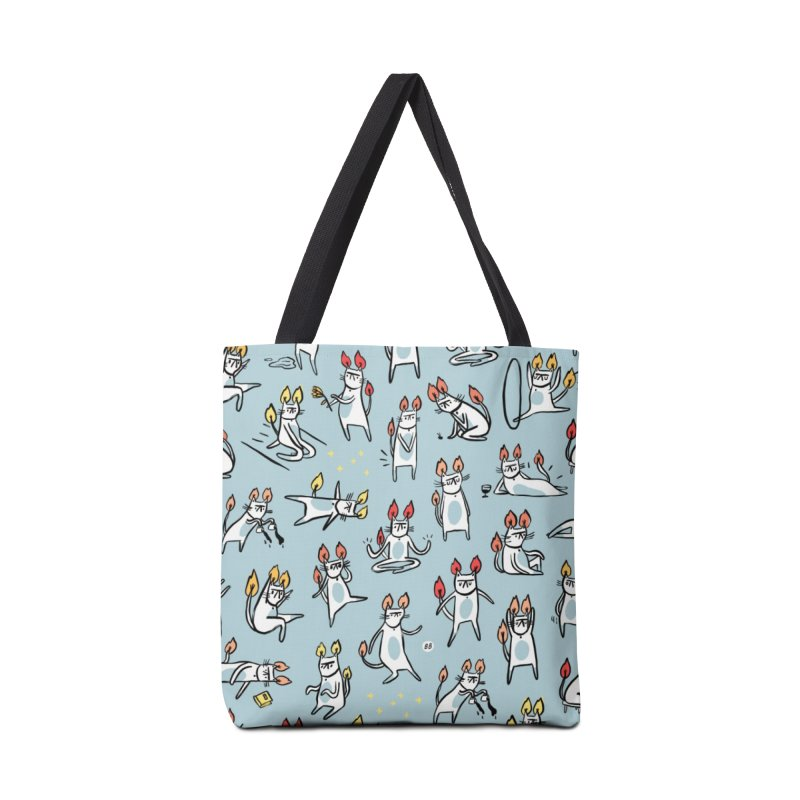 FIRECAT (BLUE VERSION) Accessories Tote Bag Bag by RACHEL AURIEMMA