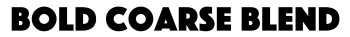Bold Coarse Blend Shop Logo