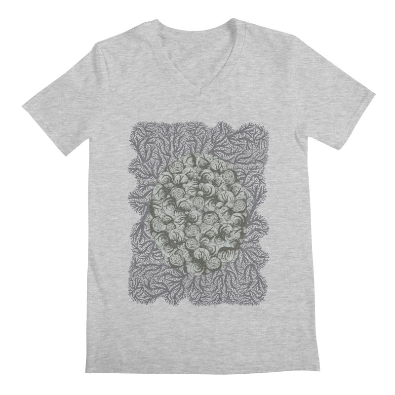 Snails All The Way Down Men's V-Neck by BCHC's Artist Shop