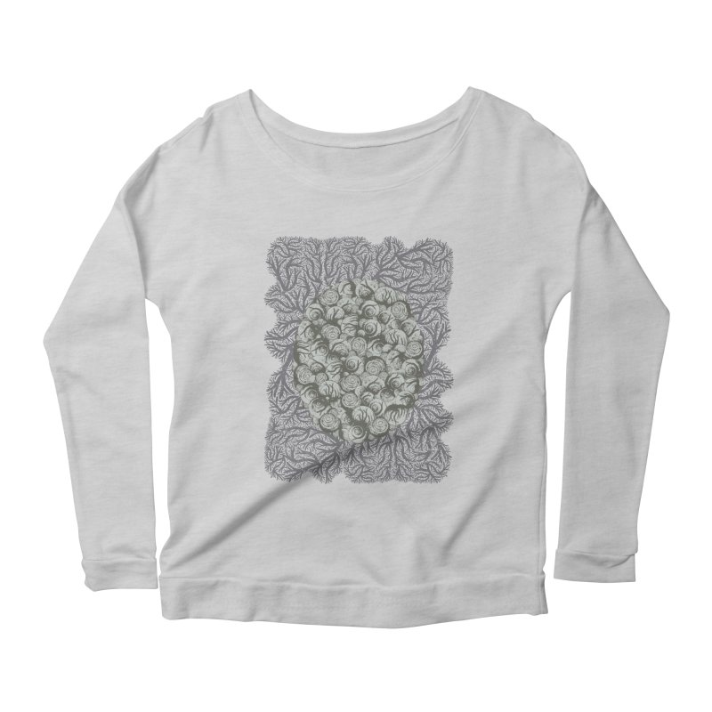 Snails All The Way Down Women's Scoop Neck Longsleeve T-Shirt by BCHC's Artist Shop