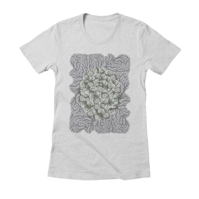 Snails All The Way Down Women's Fitted T-Shirt by BCHC's Artist Shop