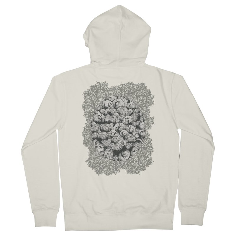 When Zombie Snails Attack Men's Zip-Up Hoody by BCHC's Artist Shop