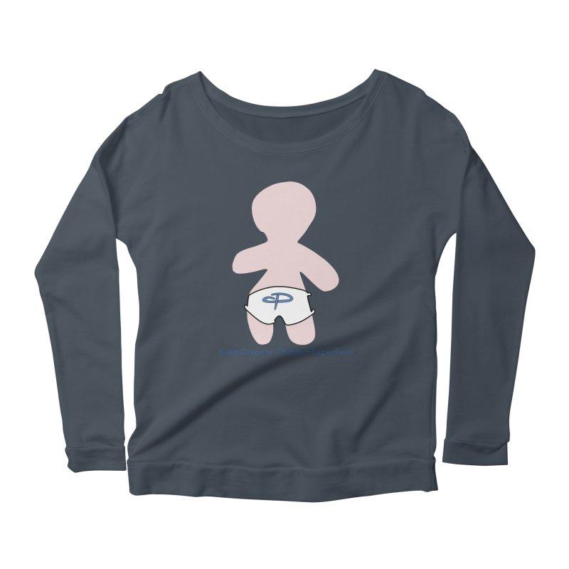 The Toddler Superhero Women's Scoop Neck Longsleeve T-Shirt by OFL BDTS Shop