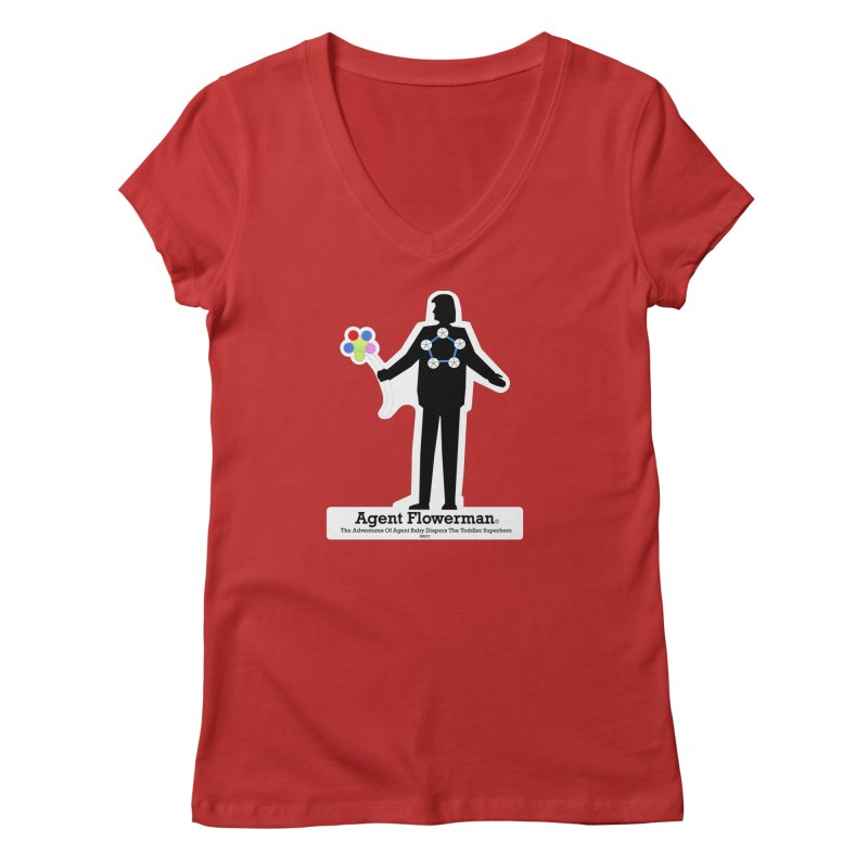 Agent Flowerman Women's V-Neck by OFL BDTS Shop