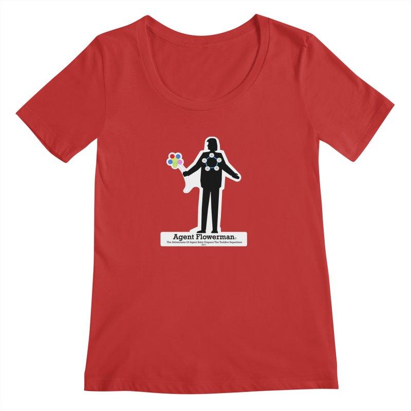 Agent Flowerman Women's Regular Scoop Neck by OFL BDTS Shop