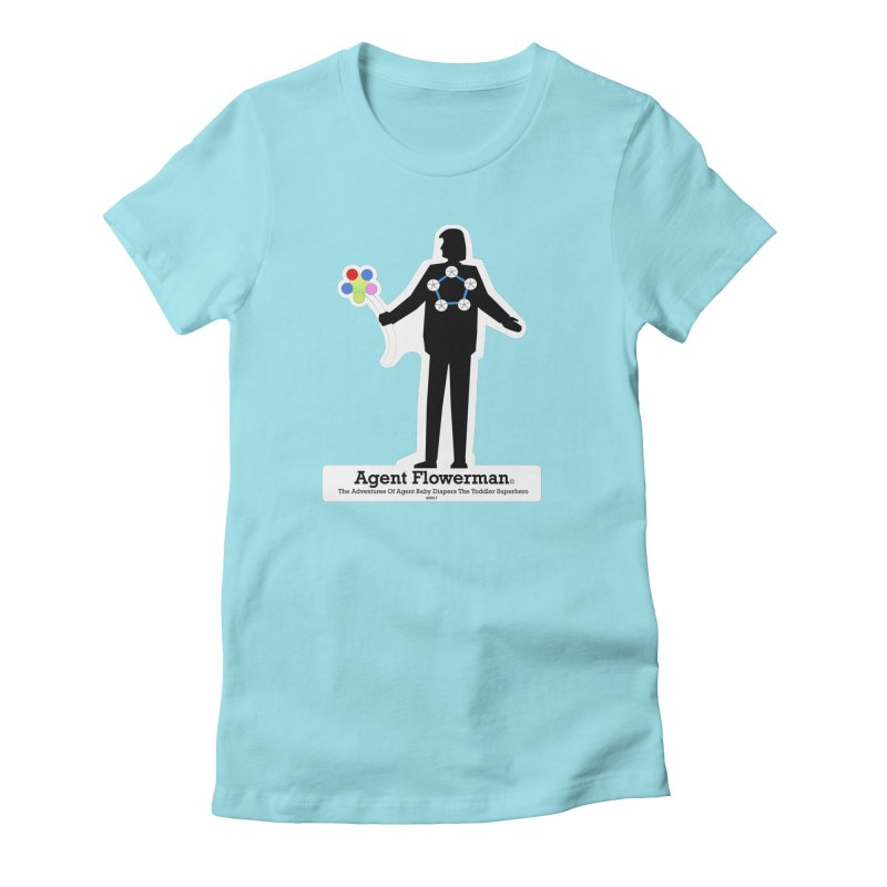 Agent Flowerman Women's Fitted T-Shirt by OFL BDTS Shop