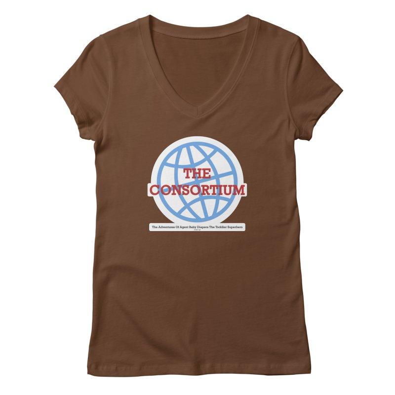 The Consortium Logo Women's V-Neck by OFL BDTS Shop
