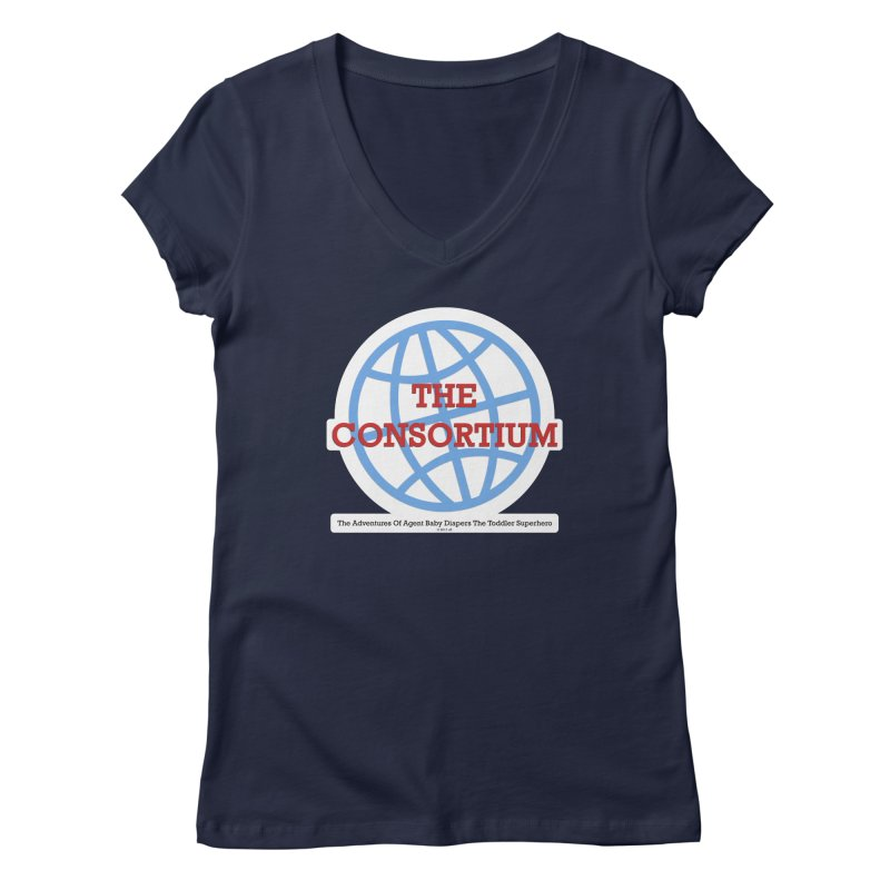 The Consortium Logo Women's Regular V-Neck by OFL BDTS Shop