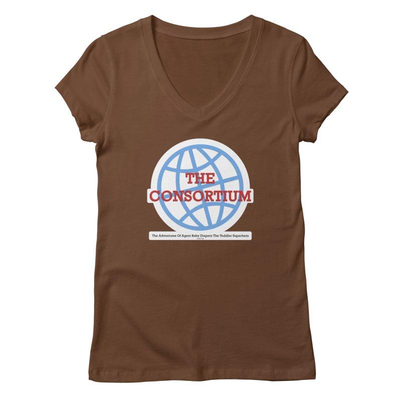 The Consortium Logo Women's Regular V-Neck by OFL BDTS Shop